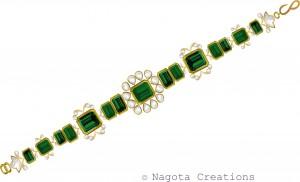 Kundan Meena - Emerald Bracelet