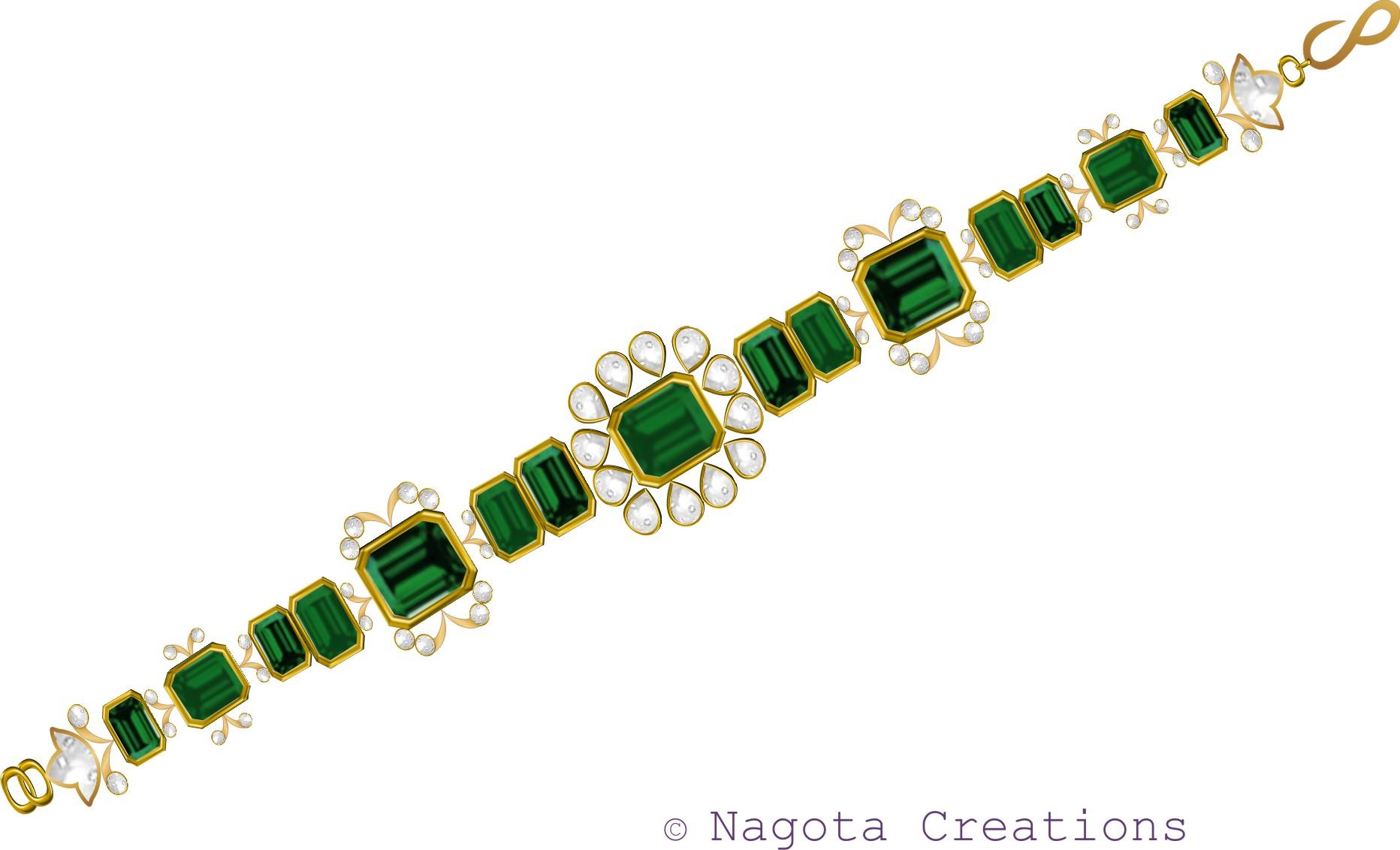 kundan meena emerald bracelet jewelstruck blog