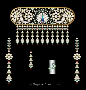 Bridal Kundan Meena Set - Beautifully crafted peacock