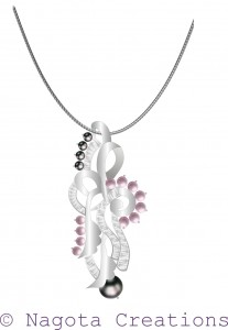 Pearl Pendant with White Gold and Diamonds
