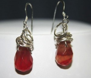 Heat treated agate earrings