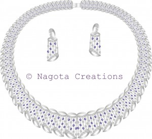 Beautiful and Gorgeous Bridal Tapered Necklace Set