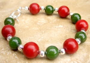Holly Berry Quartz Bracelet