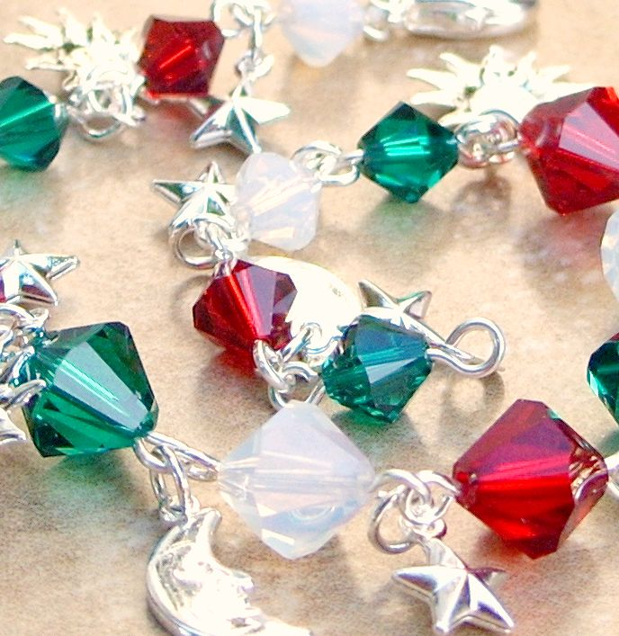 Twinkly Crystal Holiday Bracelet