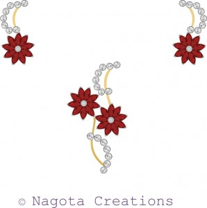 Pendant Set with Yellow Gold , White Gold , Ruby and Diamonds