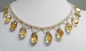 Victorian Necklace using Citrine