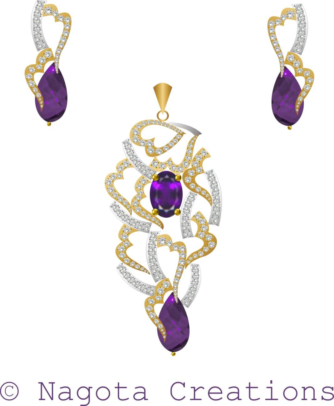 Amethyst and diamond pendant set with yellow and white gold amethyst and diamond pendant set with yellow and white gold mozeypictures Image collections