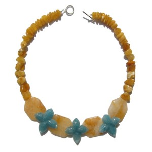 Stones used : Citrine, Amber, Amazonite