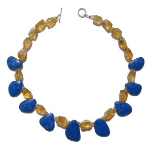 Stones used : Citrine, Lapis Lazuli