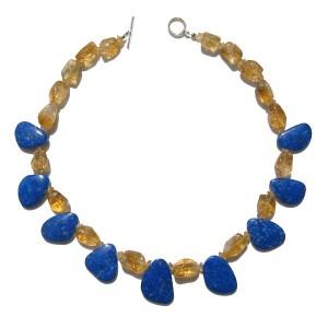 Stones used : Citrine, Lapis Lazuli