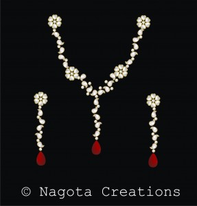 Delicate & Divine Kundan Meena Necklace Set with Diamond Polkis & Ruby
