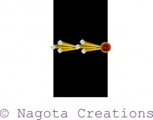 Daily Wear Ruby & Diamond ring in yellow gold