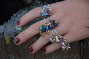 silver dingly dangly rings