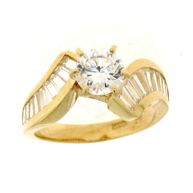 Code - LA 33: Alluring & Appealing Ladies Cubic Zirconia Solitaire Engagement Ring