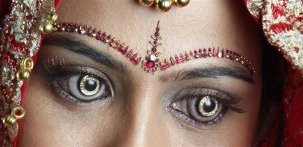 Latest In Trends, Diamond and Gold Contact Lenses
