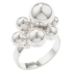 Sterling Silver Baubles Ring by Silver Supermarket