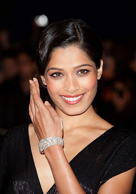 "Actress Freida Pinto sparkled in Chopard at the London premiere of ""Trishna"" on 22nd October"