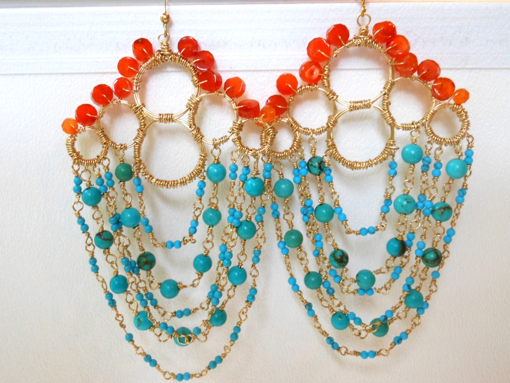 Beaded Earring by Elizabeth & Maxine