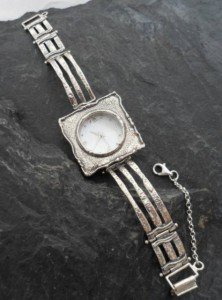 Mother of Pearl Watch by Double Dragon Jewelry