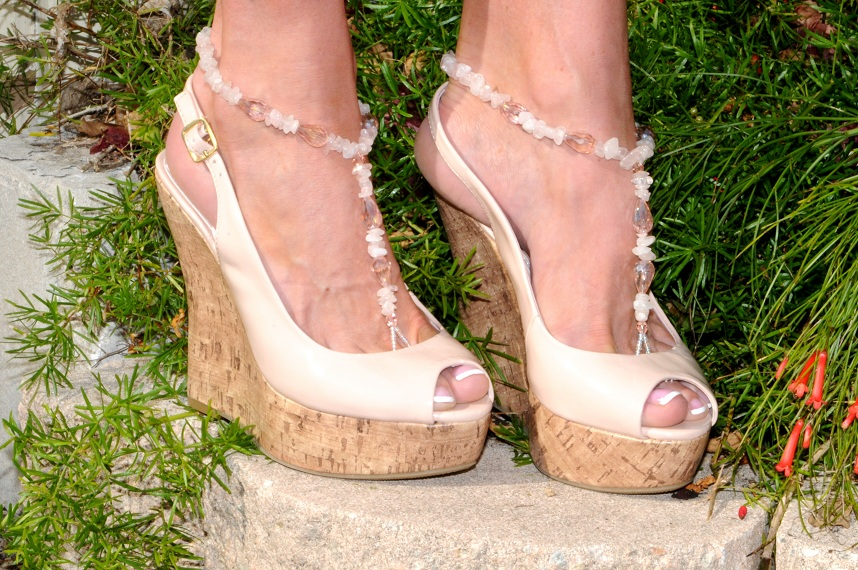 Rose Quartz Love Bling with sandals