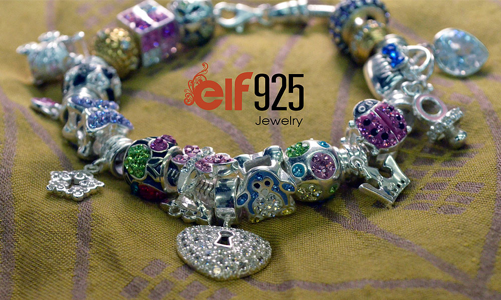 Beaded silver bracelet by elf925