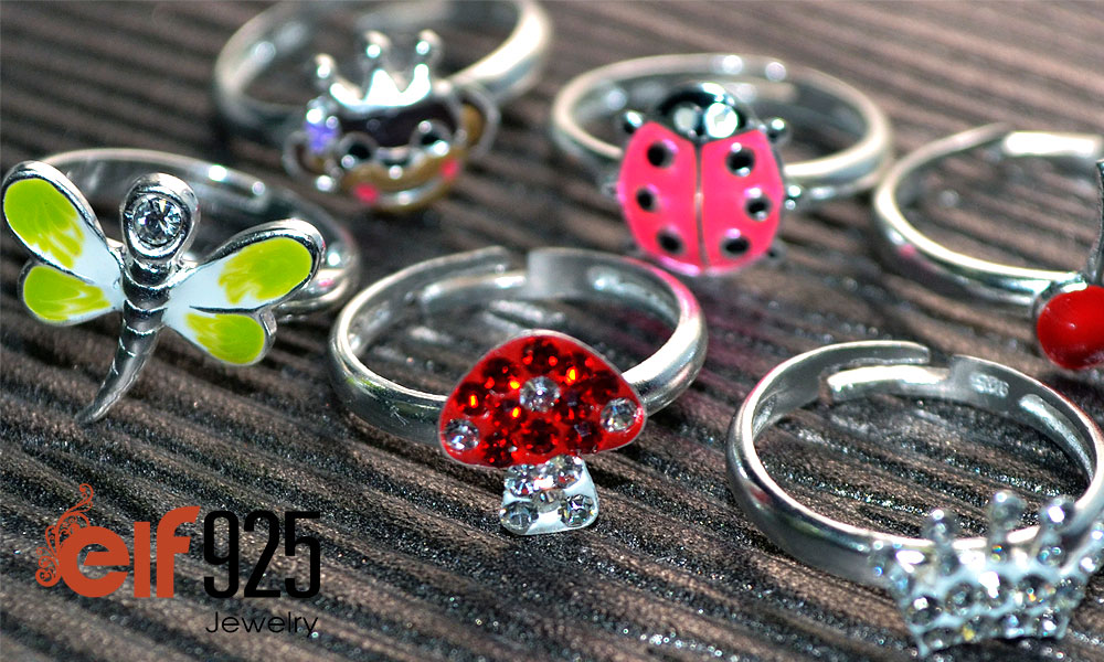 Adjustable silver rings for Children